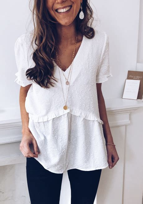 Blouse Lauriane blanche