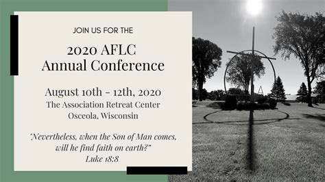 ANNUAL CONFERENCE | Association of Free Lutheran Congregations