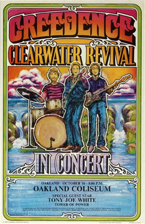 1971 Creedence Clearwater Revival Tour Oakland Concert