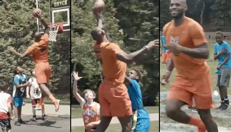 LeBron Is A Giant Kid At Bryce Maximus James' 10th