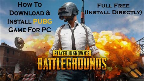 How To Download Install PUBG Game For PC Full Free (Install