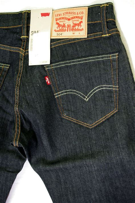 Levi's 504 jeans mens regular straight fit right high