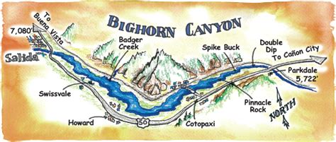 Performance Tours Brochure and Rafting Maps Colorado