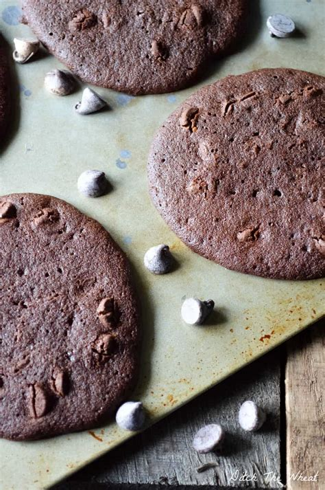 Double Chocolate Chip Coconut Flour Cookies - Ditch the Wheat