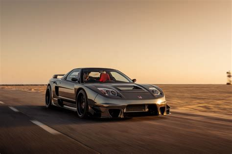 grey NSX in motion at sunset, wallpapers - HD Image #4 on
