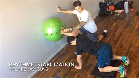 Quadruped Overhead Shoulder Stability With Swissball | 𝙏𝙝𝙚