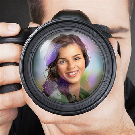 Turn your photo into reflection in camera lens online