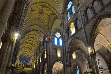 Incredible Interior Of A Medieval Christian Church Stock