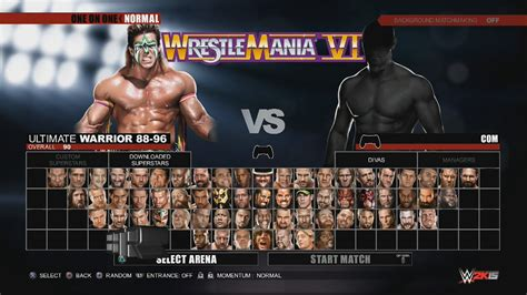 WWE 2K15 Character Select Screen Including All DLC Packs