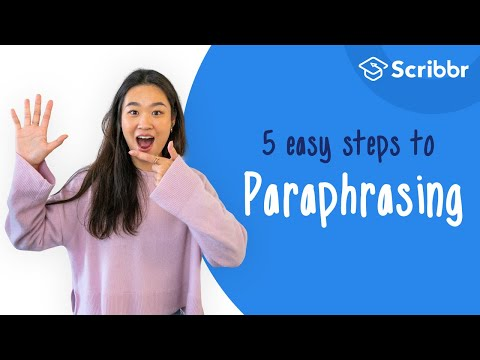 4 R's of Paraphrasing Poster by Jennifer Weeast | TpT