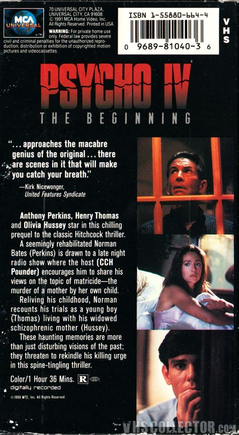 Psycho IV: The Beginning   VHSCollector