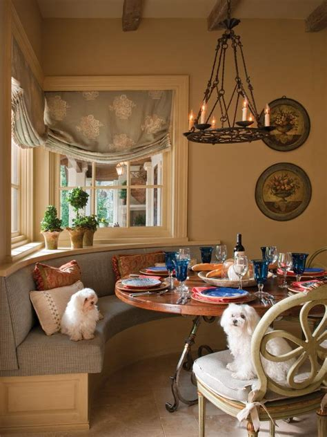 French Country Dining Room With Banquette Seat | HGTV