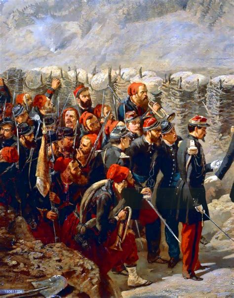 Marshal Patrice MacMahon with the Zouaves in Malakoff